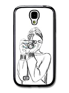 AMAF ? Accessories Girl with a Camera Sketch Original Art Illustration case for Samsung Galaxy S4