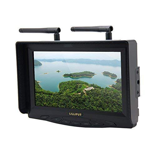 Image of Andoer Lilliput 329/DW 7' 5.8GHz TFT LCD Widescreen FPV Monitor Double Antenna for FPV Big Helicopter