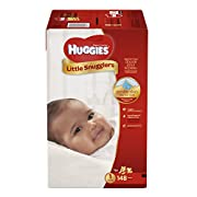 Huggies Little Snugglers Baby Diapers, Size 1, 148 Count (Packaging May Vary)