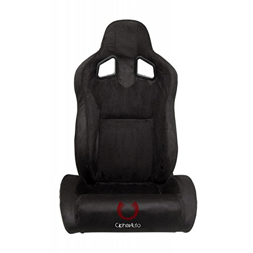 Cipher Racing Seats -All Black Microsuede CPA1039SDBK -Pair
