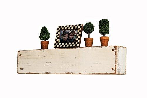 White Distressed Mantel Shelf