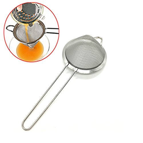 Ice Strainer - HUELE 9.5Inch/ 24cm Fine Stainless Steel Mesh Strainer For Cocktail Drink Bar Strainers Bartender Bar Tool
