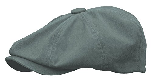 Rooster Washed Cotton Newsboy Gatsby Ivy Cap Golf Cabbie Driving Hat (X-Large, Cobalt Grey)