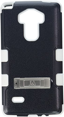 MyBat Cell Phone Case for LG LS770 (G Stylo) & Other LG Smartphones - Retail Packaging - Black/White