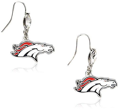 Siskiyou NFL Denver Broncos Crystal Dangle Earrings