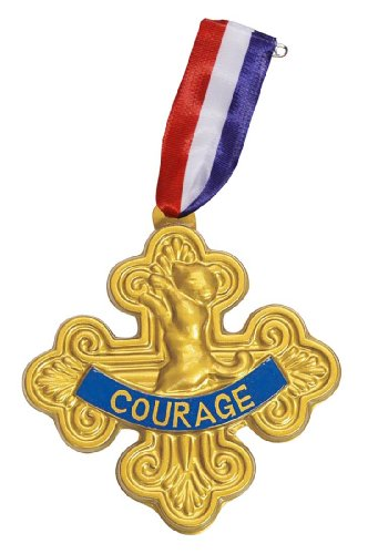 The Wizard of Oz Badge Of Courage One Size Gold