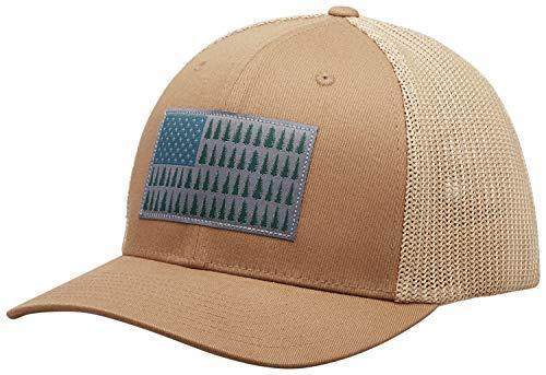 (Columbia Men's Mesh Tree Flag Ball Cap, Delta, Large/X-Large)