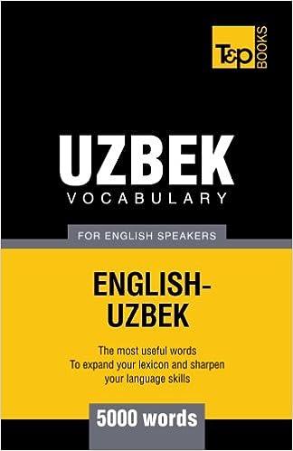 Book Uzbek vocabulary for English speakers - 5000 words