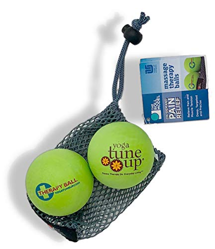 Yoga Tune Up Therapy Ball Pair in Tote, Apple Green ()