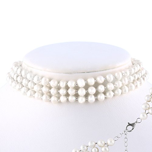 (3-Row Necklace 5-6mm Freshwater Cultured Pearls 14