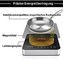 Aobosi - Placa de inducción (2000 W, vitrocerámica con ...