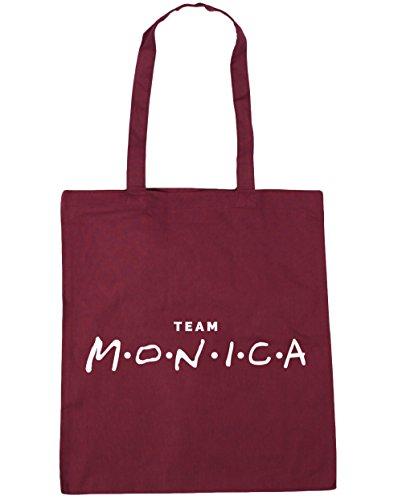 HippoWarehouse Team Monica Tote Shopping Gym Beach Bag 42cm x38cm, 10 litres Burgundy
