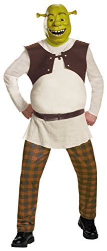 [Deluxe Shrek Costume - XX-Large - Chest Size 50-52] (Deluxe Adult Shrek Costumes Mask)