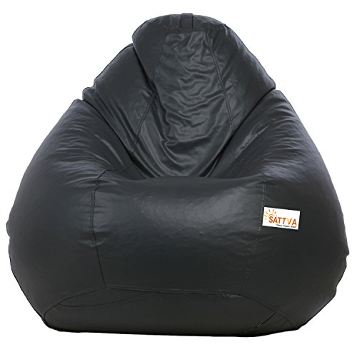 Sattva Classic Bean Bag Cover  Without Beans  XXL Size   Grey