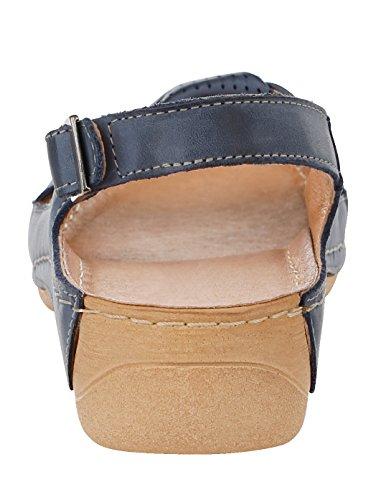 Sandale Schlaufe Blau KLiNGEL Damen Raffinierter mit xS5qwCpUq