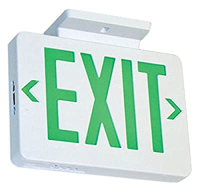 Elco Lighting EELE5 LED Exit Sign Green or Red Letters Single/Double Face Configurable