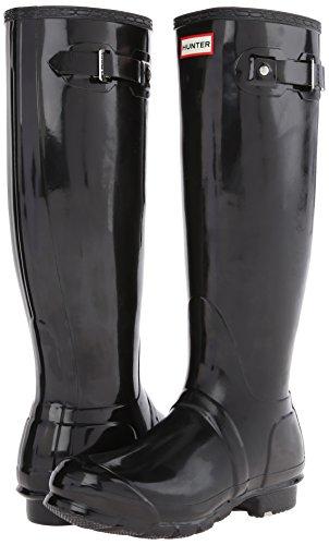 Botas Negro Goma Lluvia Mujer Hunter Black Original De Tall Gloss Botas Invierno CwF4XqO