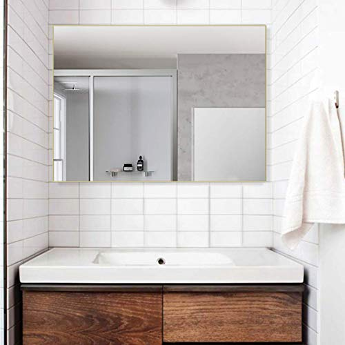 belle electrical BE Anti-Fog Horizontal/Vertical Home Bathroom Wall-Mounted Vanity Mirror (24