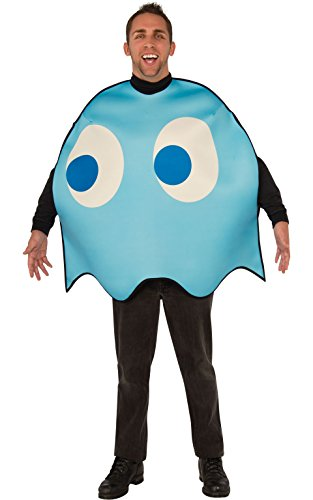 Pac Man Characters Costumes (Rubie's Costume Co Men's Pacman Inky Costume, Multi, Standard)