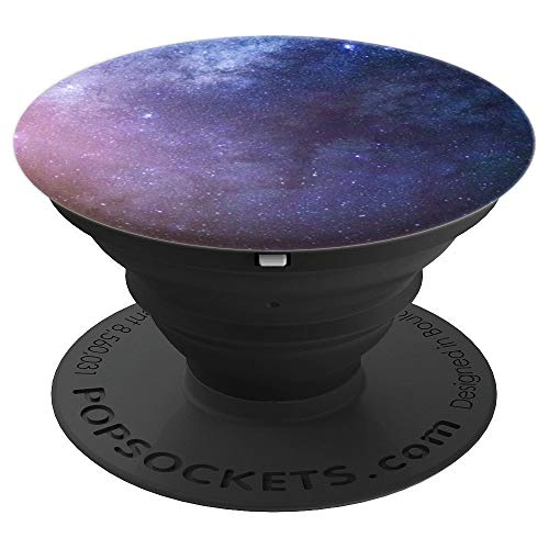 Milky Way Galaxy Night Time Sky Design - PopSockets Grip and Stand for Phones and Tablets ()