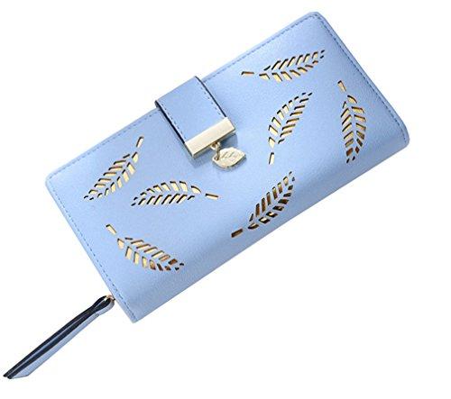 Haoling monnaie à embrayage billets main monnaie cash porte à porte mode téléphone blue cuir poche en photo pince sac Femmes portefeuille long photo femme trxvqOwtR
