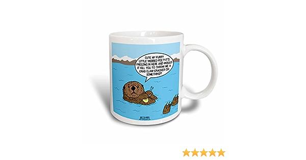 3drose Mug 61674 3 Sea Otter Sour Grapes Magic Transforming Mug 11 Oz Multicolor Kitchen Dining