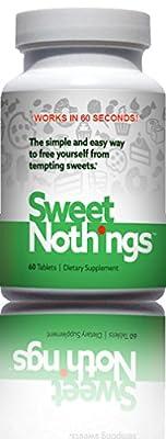 SWEET NOTHINGS - Sugar Blocker - Stops Sweet Cravings In One Minute Guaranteed - Appetite Control Formula - 60 Tablets
