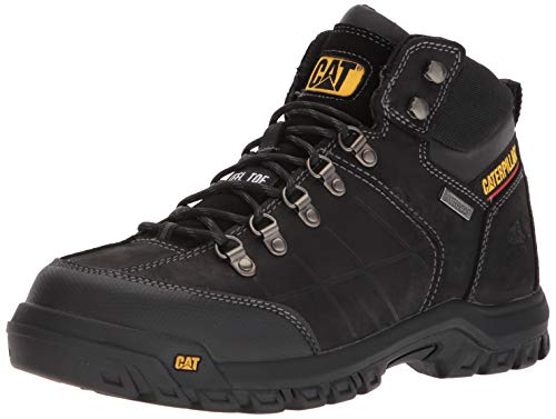 Caterpillar Men's Threshold Waterproof Steel Toe Construction Boot Black 7.5 W US (Best Construction Boots For Men)