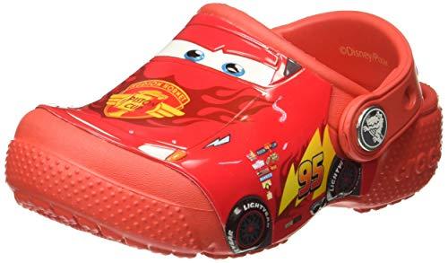 Crocs Kids' funlab Cars K Clog, Flame, 6 M US Toddler