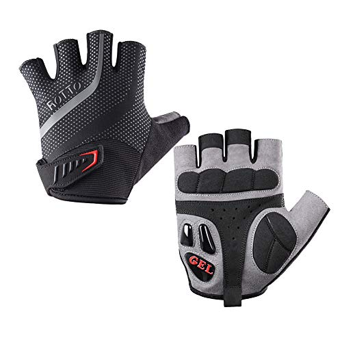 ROTTO Cycling Gloves Half Finger Mountain Bike Gloves for Men Women with Gel and SBR Padding
