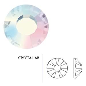 Mode Beads Preciosa Flatback Beads, Multicolor Crystal AB, 10 Gross Package