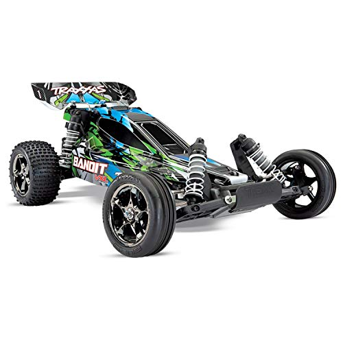 Traxxas Bandit VXL: 1/10 Scale Off-Road Buggy with TQi Link Enabled 2.4GHz Radio System & Traxxas Stability Management (TSM) -  24076-4-GRN