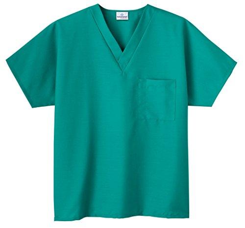 (White Swan Unisex Solid Nursing Uniform Scrub Top (XXS,)