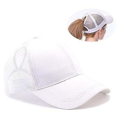 6ad6a64030e26 Tuopuda Casquette de Baseball Femme Chapeau de Queue de Cheval Réglable Demi -Maille Casquettes de