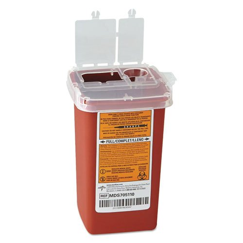 MEDLINE MDS705110 MDS705110H Phlebotomy Sharps Containers - (100 count per case) by Medline