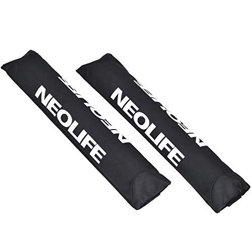 Neolife Car Roof Rack Pads for Surfboard Kayak SUP Snowboard Racks 19Inch/28Inch Long Large Aero Bars [Pair]