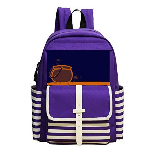 Spiders In Tanks Schoolbag Large Primary School Leisure Bag Children'S Backpack Purple]()