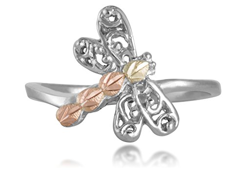 Dragonfly Toe Ring, Sterling Silver, 12k Green Gold and 12k Rose Gold Black Hills Gold by Black Hills Gold Jewelry (Image #2)