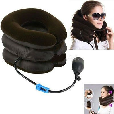 Neck Stretcher Pain Relief Shoulder Tension Back Traction Adjustable Inflatable