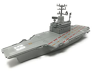 "Toy Aircraft Carrier Playset includes 6 fighter jets and 2 choppers - Aircraft Carrier has Lights and Realistic Sounds (""red alert"", missiles launching, & Ship Horn)- batteries included"