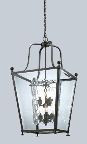 Z-Lite 179-6 Ashbury Six Light Pendant, Metal Frame, Bronze Finish and Clear Beveled Glass Outside - Pendant Ashbury