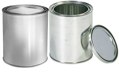 Empty Quart Paint Cans with Lids (2 Pack) Empty Metal Paint Storage Cans with tops container set