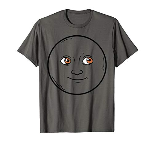 Creepy New Moon Halloween Emojis Costume Shirt Face Emoticon ()