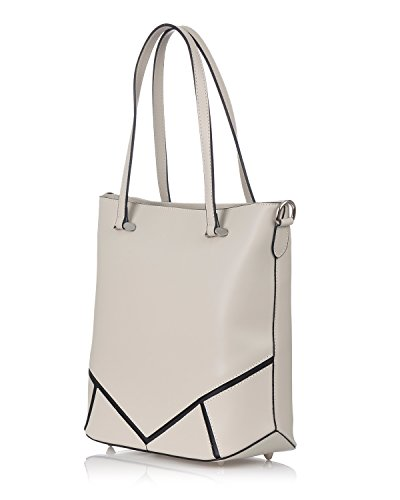 Closure With Bag Moretti Leather Laura Genuine Beige Zipper BCqxpBRgwv