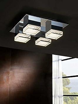 Plafones Led de Techo : Colección PRISMA 4 luces de 32x12x32cms: Amazon.es: Hogar