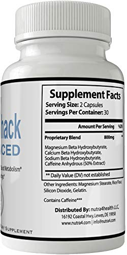 Keto Hack Advanced Capsules Weight Loss Pills Supplement, Appetite Suppressant with Ultra Advance Natural Ketogenic 800 mg Fast Formula with BHB Salts Ketone Diet Boost Metabolism by nutra4health LLC (Image #1)