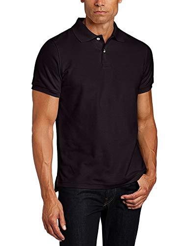 Lee Uniforms Men's Modern Fit Short Sleeve Polo Shirt, Black, 3XL