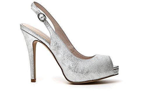 CAFèNOIR Zapatos de Vestir Para Mujer Plateado Plateado