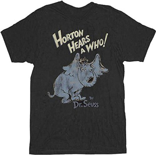 Fun-Tshirt Horton Hears A Who Distressed Black Adult T-Shirt Tee