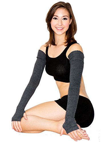 Light Grey Super Long Sexy Arm Warmers KD dance New York Warm Cozy Stretch Knit Thumb Hole Made In USA High Quality #Loungewear Pin Up Vamp Dancewear Sophisticated